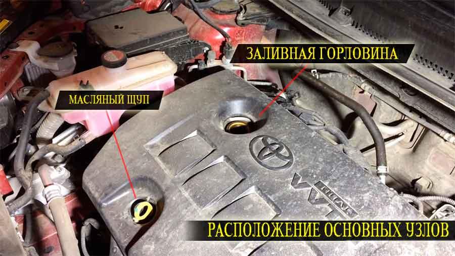 Замена масла в двигателе тойота Рав 4
