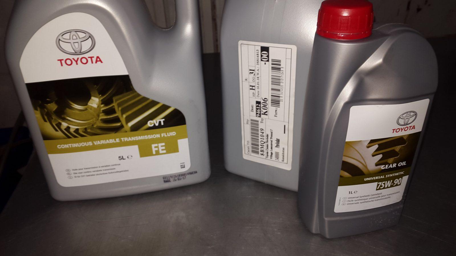 Замена масла в вариаторе Тойота Рав 4
