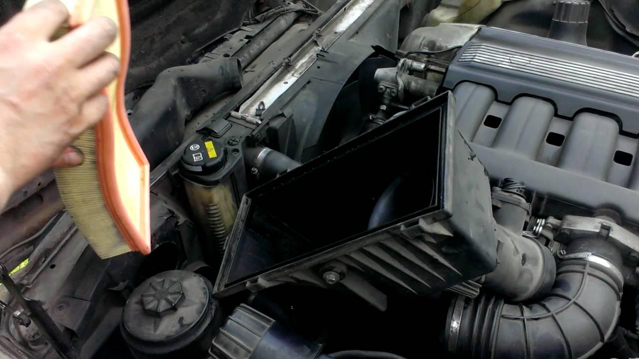 Замена воздушного фильтра на BMW E34
