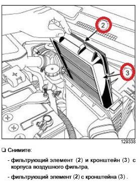 Замена воздушного фильтра Рено Колеос